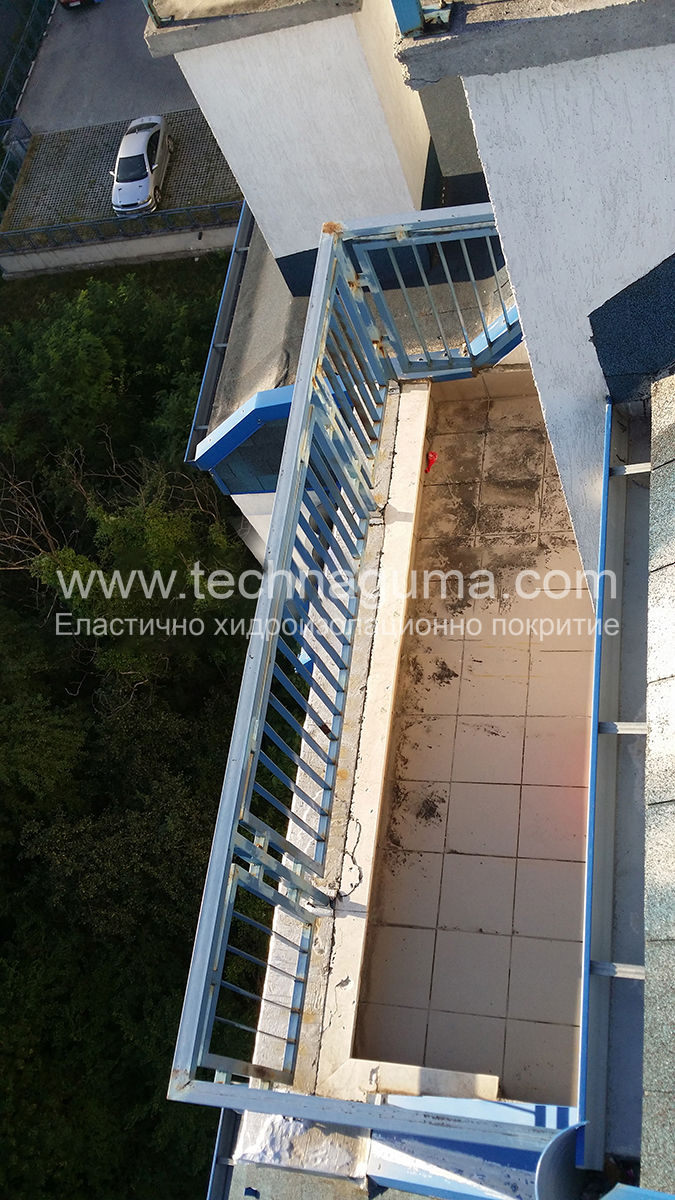 Waterproofing of tarsa ​​with granitogress - Sofia